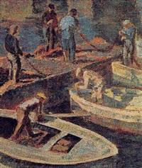 les pêcheurs, port d'erbalunga by josé fabri-canti