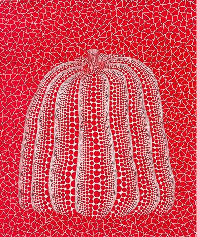red pumpkin by yayoi kusama
