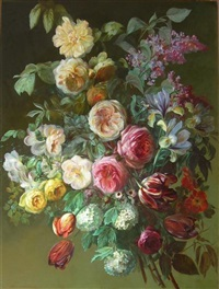still life with summer flowers by charles de haspe