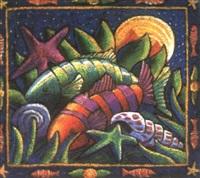 nature morte aux poissons by geraldine goldie