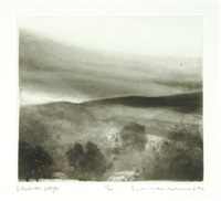 chalk hill covert, asthall (+ wenlock edge; 2 works) by norman ackroyd