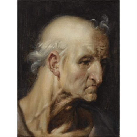study of the head of an old man by cornelis cornelisz van haarlem