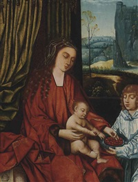 the virgin and child by master of frankfurt