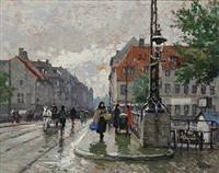 street life at christianshavn, copenhagen by paul gustave fischer