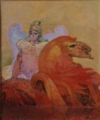 personaggio con cavallo by raffaele de rosa