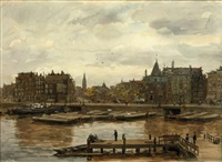 a view of the schreierstoren, amsterdam by felicien bobeldyk