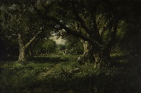 a clearing among the oaks, alameda by william keith