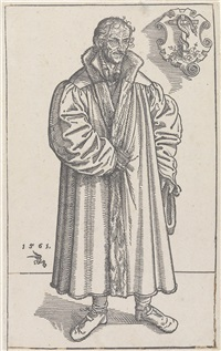 philipp melanchthon, in ganzer figur stehend by lucas cranach the younger
