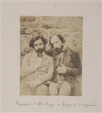self-portrait with françois-victor hugo, 1853 by auguste vacquerie