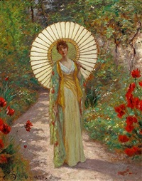 the japanese parasol by william john hennessy