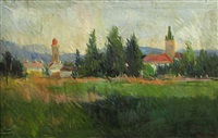 landscape of baia mare by andrás mikola