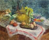 théière et légumes by victor simonin