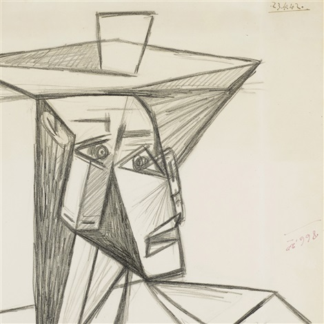 buste de femme study for painting by pablo picasso