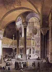 aya sofia constantinople, as recently restored by order of h.m. the sultan abdul medjid by caspard fossati