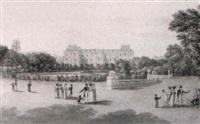 vue du palais du luxembourg depuis les jardins by lieutenant colonel robert batty