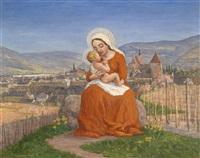 madonna im weingarten, im hintergrund krems by adolf helmberger