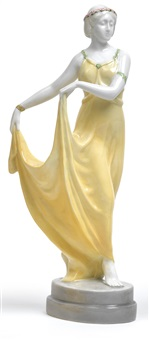 tanzendes mädchen in langem kleid by max valentin