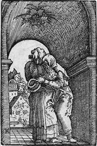 die begegnung von joachim und anna (from sündenfall und erlösung des menschengeschlechts) by albrecht altdorfer