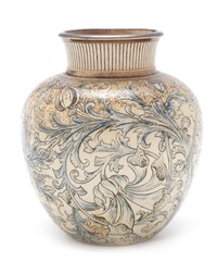 a stoneware vase by martin brothers
