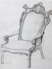 design for the masters chair of the carpenters' company, london by john linnell