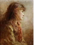 a gypsy girl by george elgar hicks