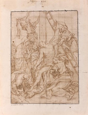 la descente de croix by domenico piola