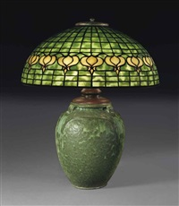pomegranate table lamp by tiffany and grueby