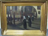 intérieur d'église à jérusalem by louis gustave cambier