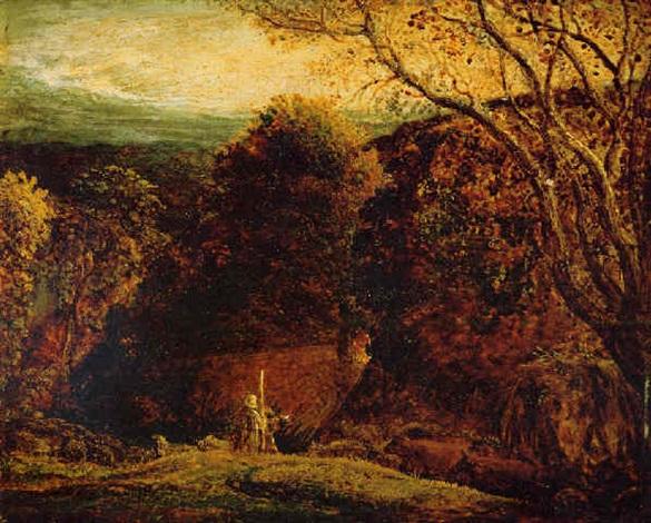 landscape twilight by samuel palmer
