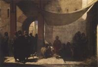 scène orientale by auguste barthelemy glaize