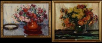 vase de fleurs (2 works) by hubert glansdorff