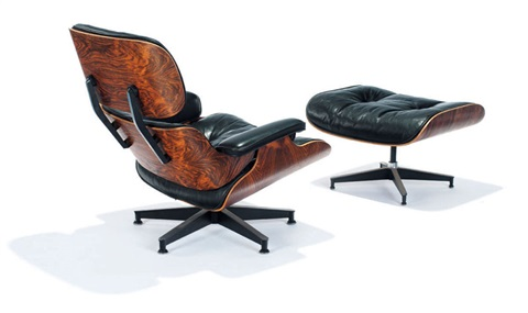 lounge chair & ottoman (model 670 & 671) (set of 2) by charles and ray eames