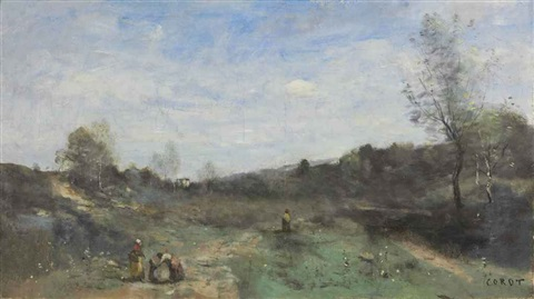 vallons défrichés by jean baptiste camille corot