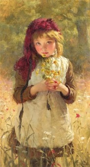 buttercups by george elgar hicks