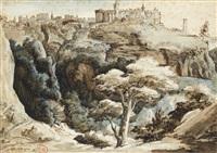 vue de tivoli by théodore géricault