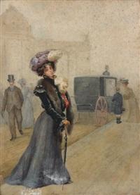 la sortie du grand palais by jean béraud