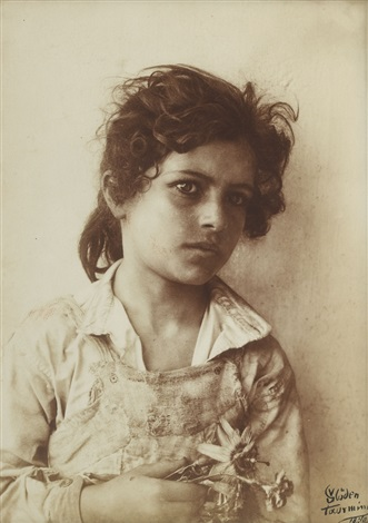 untitled sicilian girl by baron wilhelm von gloeden