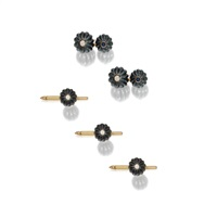 dress set including a pair of cufflinks and studs (set of 4) by trianon (co.)