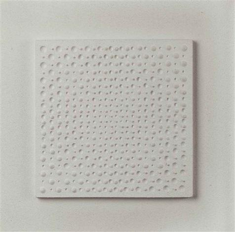 weisse struktur zentrische progression iii by gerhard von graevenitz