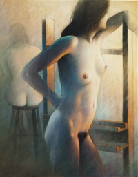 nude study from two views by guy gladwell