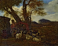 landschaft mit hirtenszene by jacob van der does the elder