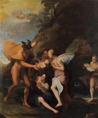 la naissance de bacchus by antoine coypel