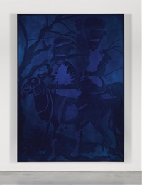 blue riders by chris ofili