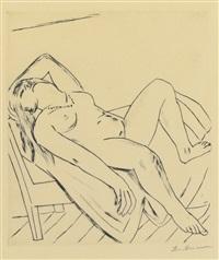 reclining figure (h. 232.b.a) by max beckmann