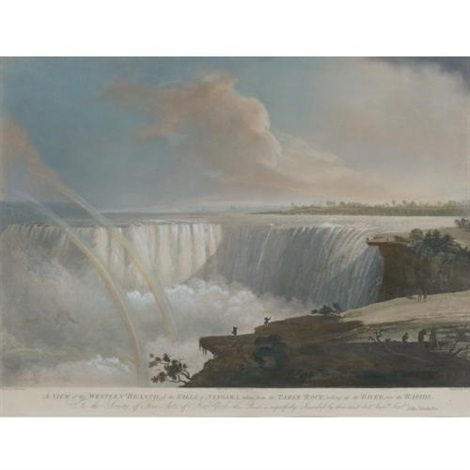 a view of the western branch of the falls of niagara by fc lewis by john vanderlyn