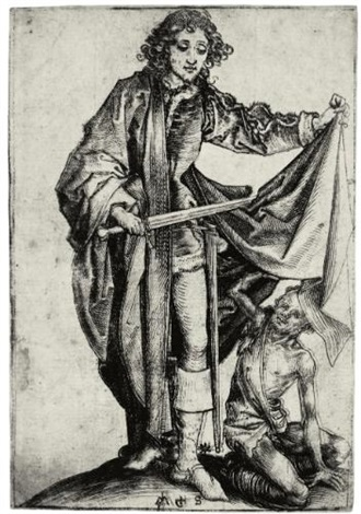 saint martin dividing his cloak by martin schongauer