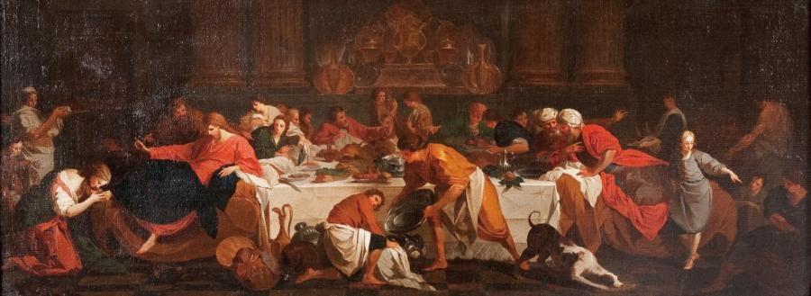 la madeleine aux pieds du christ chez simon le pharisien dit aussi le repas chez simon by pierre hubert subleyras