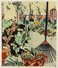 vegetable garden by cressida campbell