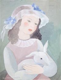dziewczynka z królikiem by alice hohermann