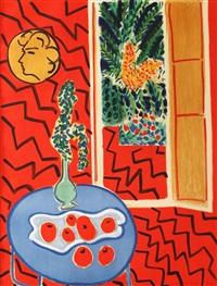 intérieur rouge by henri matisse